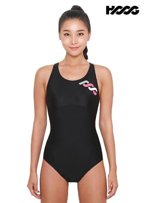 후그 WRA1193 로우컷 코르셋핏 Y-back 여성 원피스 수영복
