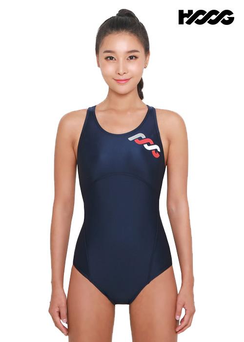 후그 WRA1194 로우컷 코르셋핏 Y-back 여성 원피스 수영복