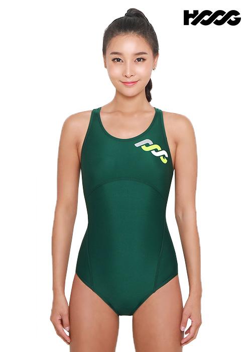 후그 WRA1195 로우컷 코르셋핏 Y-back 여성 원피스 수영복