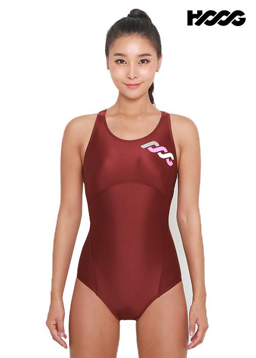 후그 WRA1196 로우컷 코르셋핏 Y-back 여성 원피스 수영복