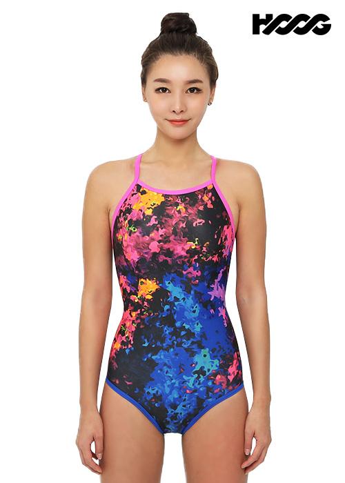 후그 WRA1305 로우컷 란제리 X-back 여성 원피스 수영복