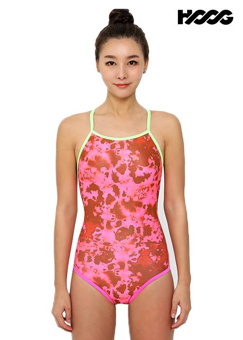 후그 WRA1306 로우컷 란제리 X-back 여성 원피스 수영복