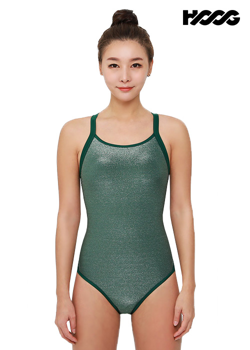 후그 WRM1299 로우컷 트라이앵글 X-back 여성 원피스 수영복