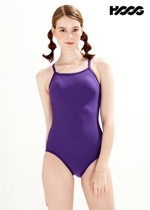후그 WRT1443 로우컷 더블바 크로스 X-back 탄탄이 여성 원피스 수영복