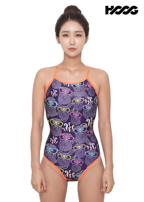 후그 WSA1096 미들컷 크로스 X-back 여성 원피스 수영복