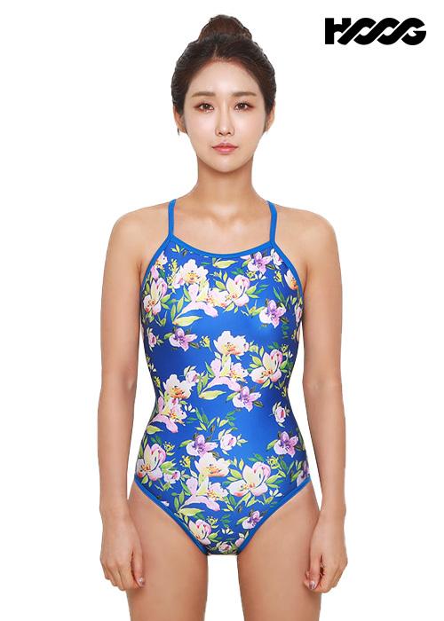 후그 WSA1099 미들컷 크로스 X-back 여성 원피스 수영복