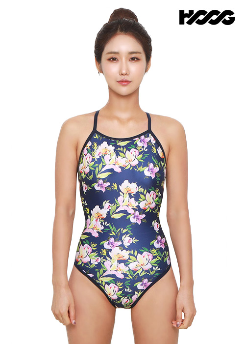 후그 WSA1105 미들컷 더블스트랩 X-back 여성 원피스 수영복