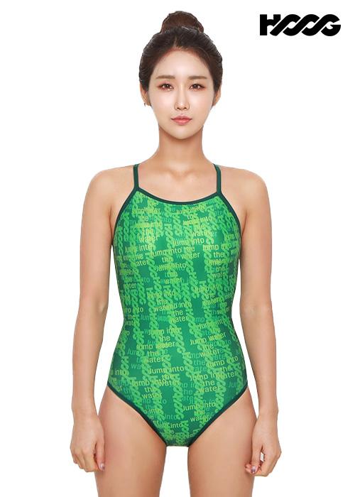 후그 WSA1106 미들컷 더블스트랩 X-back 여성 원피스 수영복