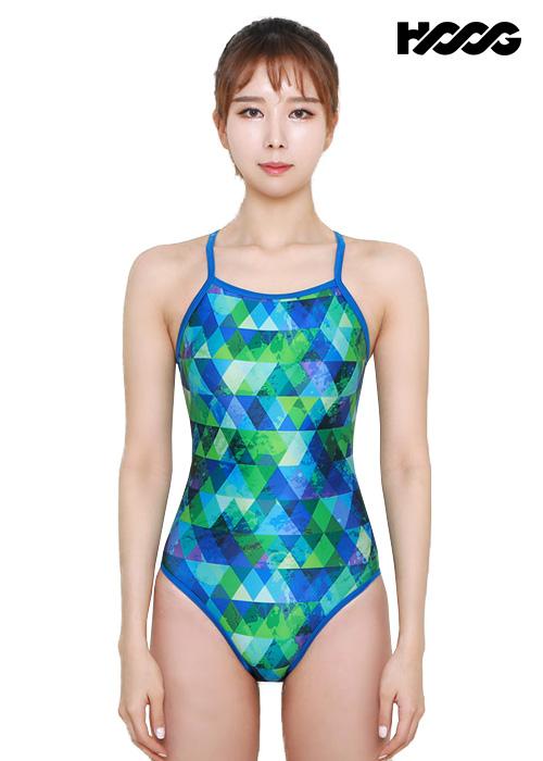후그 WSA1108 미들컷 V-back 여성 원피스 수영복