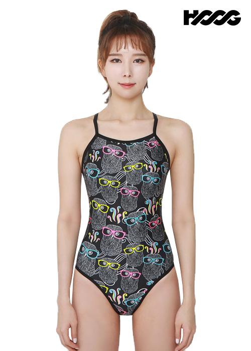 후그 WSA1109 미들컷 V-back 여성 원피스 수영복