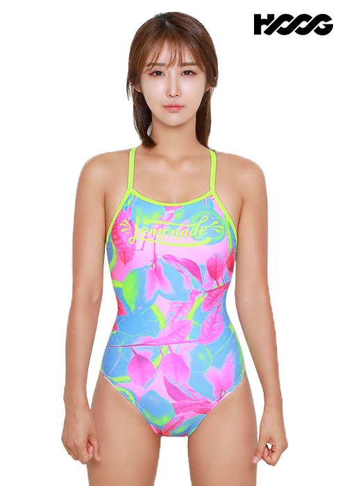 후그 WSA1210 미들컷 란제리 X-back 여성 원피스 수영복