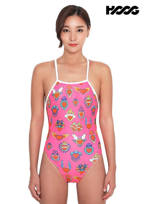 후그 WSA1233 하이컷 타이 back 여성 원피스 수영복
