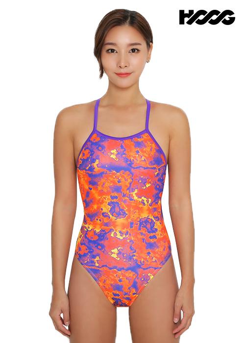 후그 WSA1235 하이컷 V-back 여성 원피스 수영복
