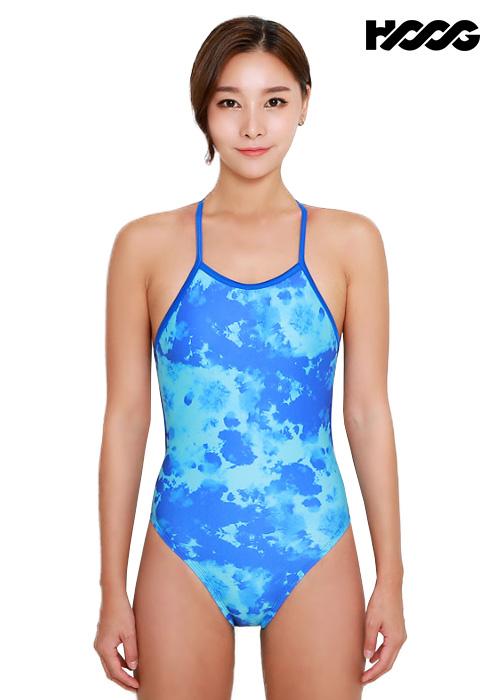 후그 WSA1238 하이컷 오픈 X-back 탄탄이 여성 원피스 수영복