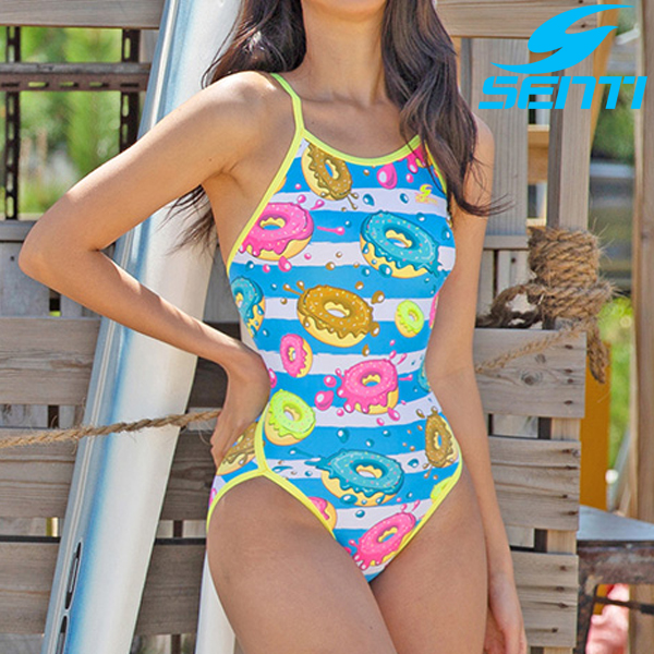 센티 알럽도넛 WSN-9907-BLYL 여성 선수용 플립턴