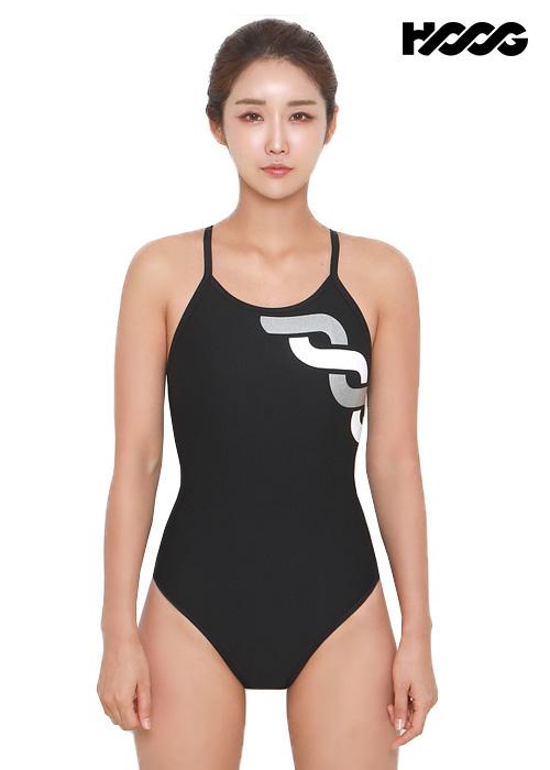 후그 WST1140 미들컷 트라이앵글 X-back 탄탄이 여성 원피스 수영복