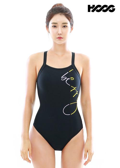 후그 WST1244 미들컷 빅스트랩 X-back 탄탄이 여성 원피스 수영복