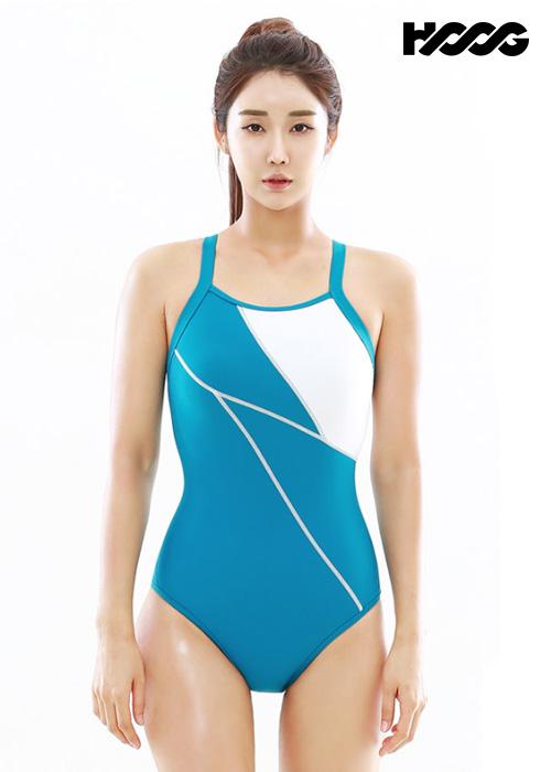 후그 WST1254 로우컷 빅스트랩 X-back 탄탄이 여성 원피스 수영복