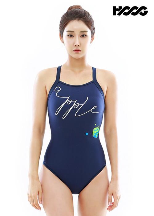 후그 WST1256 로우컷 빅스트랩 X-back 탄탄이 여성 원피스 수영복
