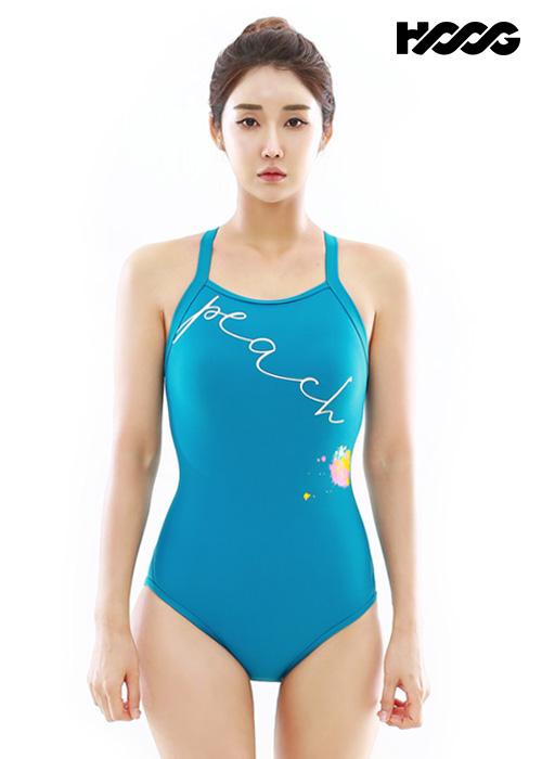 후그 WST1257 로우컷 빅스트랩 X-back 탄탄이 여성 원피스 수영복