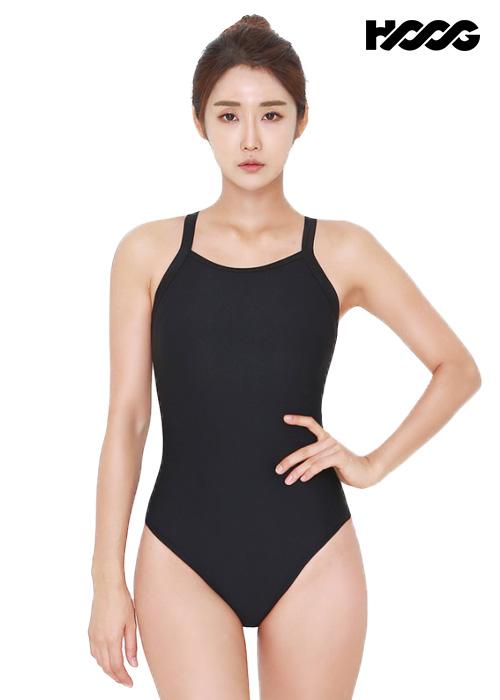 후그 WST1319 미들컷 빅스트랩 X-back 탄탄이 여성 원피스 수영복