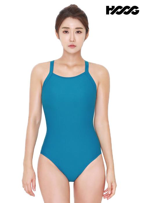 후그 WST1320 미들컷 빅스트랩 X-back 탄탄이 여성 원피스 수영복
