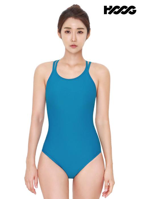 후그 WST1323 미들컷 크로스오버 X-back 탄탄이 여성 원피스 수영복