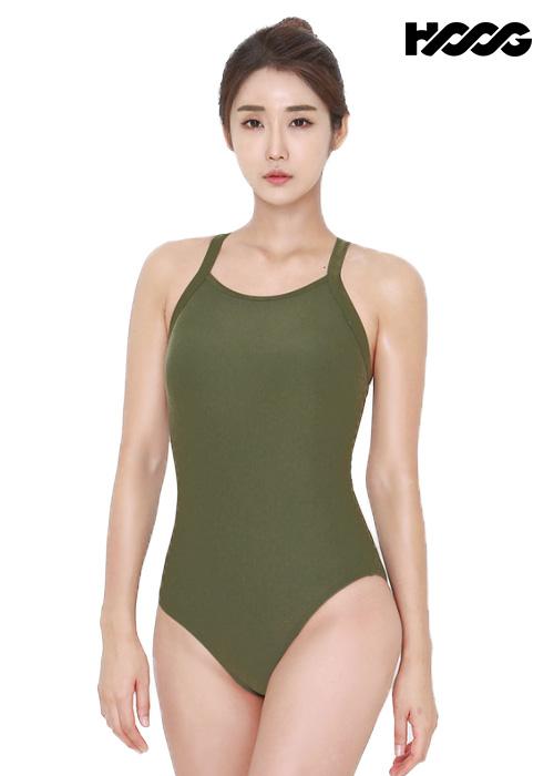 후그 WST1332 미들컷 빅스트랩 X-back 탄탄이 여성 원피스 수영복