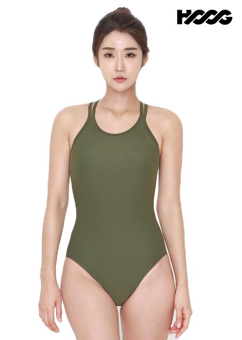 후그 WST1333 미들컷 크로스오버 X-back 탄탄이 여성 원피스 수영복
