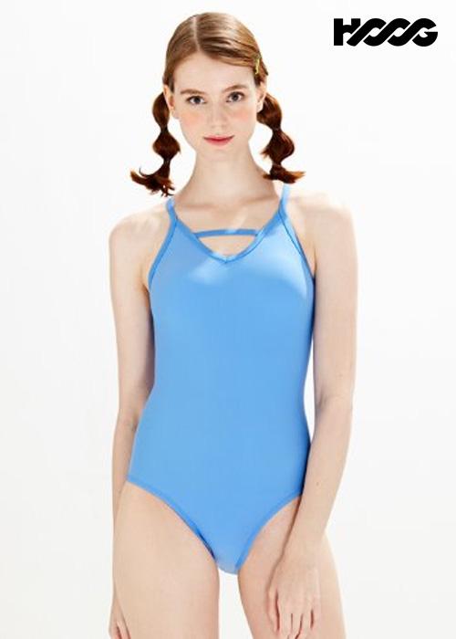 후그 WST1428 미들컷 브이바 크로스 X-back 탄탄이 여성 원피스 수영복
