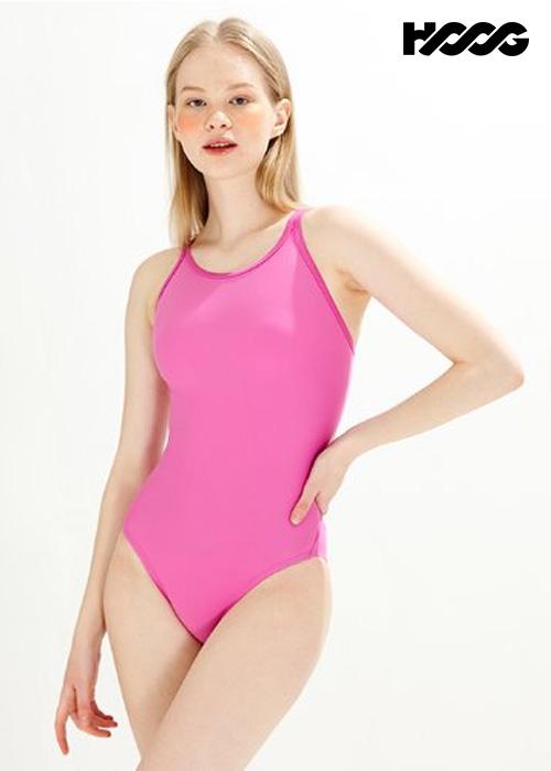 후그 WST1434 미들컷 크로스오버 X-back 탄탄이 여성 원피스 수영복