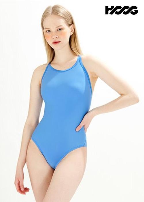 후그 WST1436 미들컷 크로스오버 X-back 탄탄이 여성 원피스 수영복