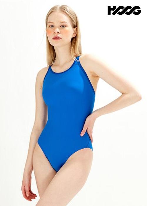 후그 WST1437 미들컷 크로스오버 X-back 탄탄이 여성 원피스 수영복