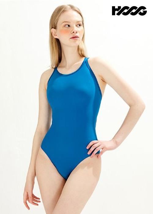 후그 WST1438 미들컷 크로스오버 X-back 탄탄이 여성 원피스 수영복
