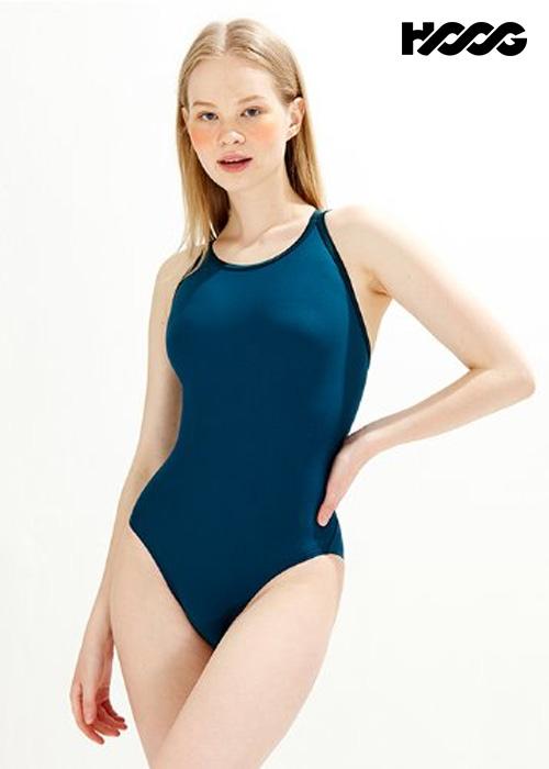 후그 WST1439 미들컷 크로스오버 X-back 탄탄이 여성 원피스 수영복