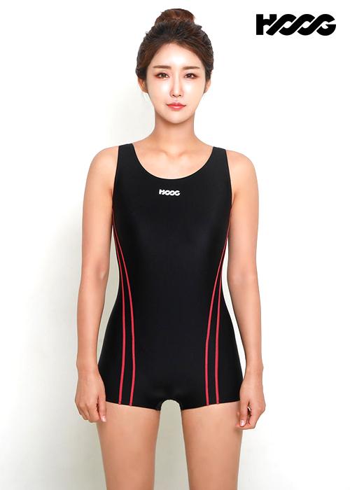 후그 WUA1161 1부컷 U-back 여성 반전신 수영복