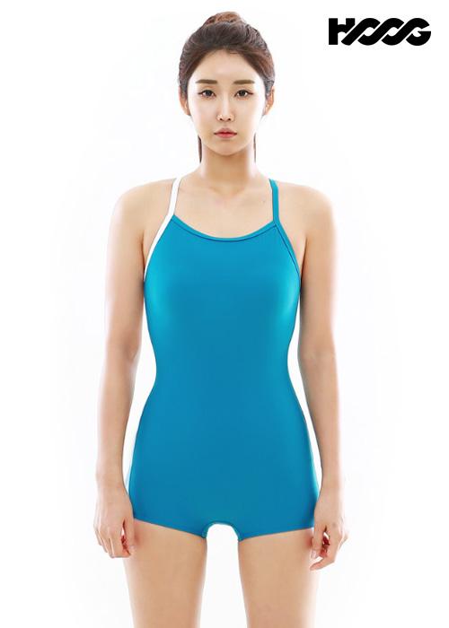 후그 WUT1262 1부컷 란제리 X-back 탄탄이 여성 반전신 수영복