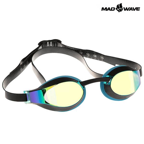 X-LOOK RAINBOW(AZURE) MAD WAVE 선수용 패킹 미러 수경