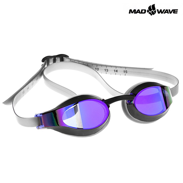 X-LOOK RAINBOW(VIOLET) MAD WAVE 선수용 패킹 미러 수경