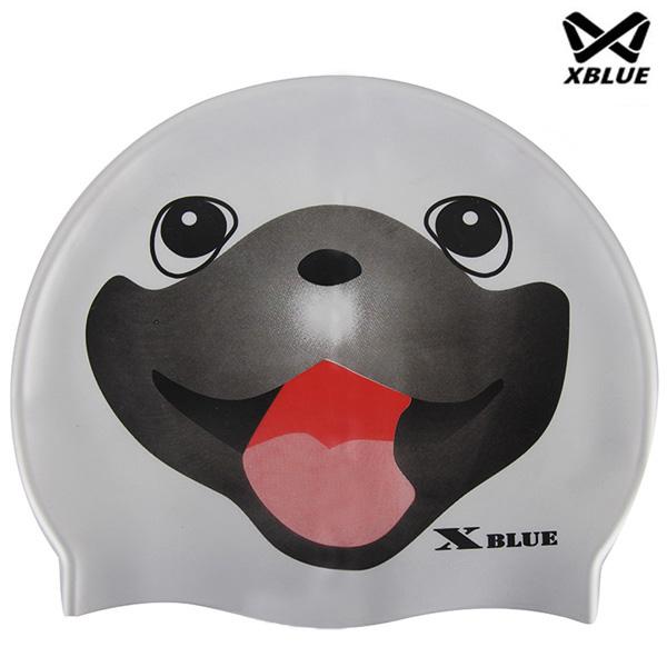 XB-002(스마일) 실리콘 주니어 수모 수영모