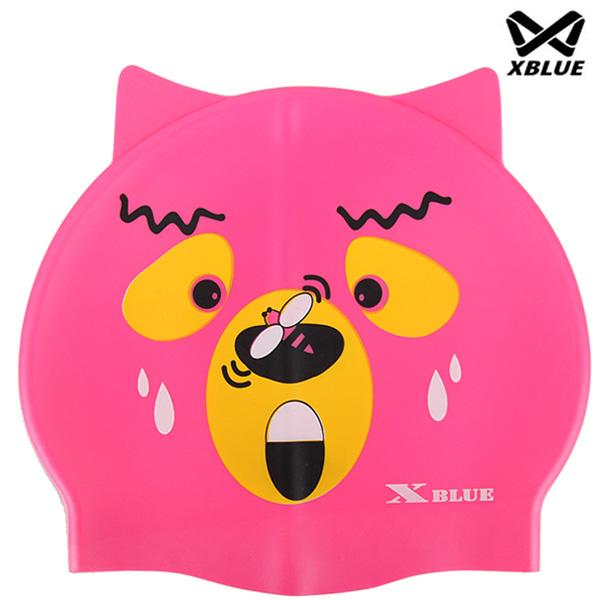 XB-003-1(핑키) 실리콘 주니어 수모 수영모