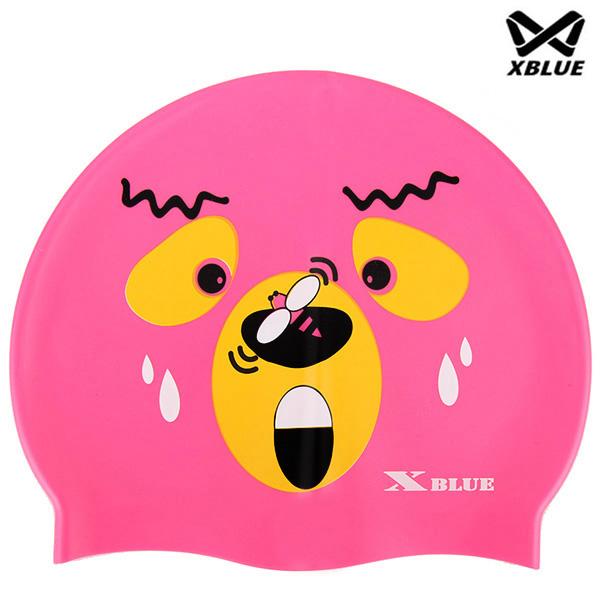 XB-003(핑키) 실리콘 주니어 수모 수영모