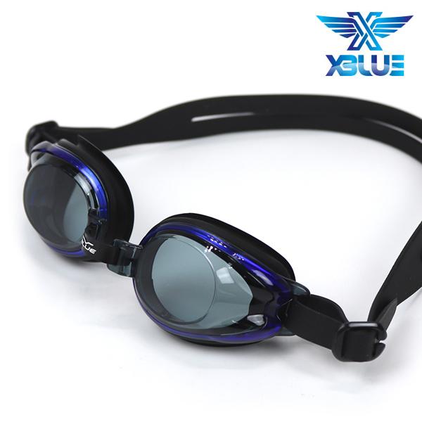 엑스블루 패킹 노미러렌즈 수경 주니어 XB-12J(BLK)