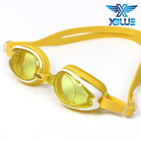 엑스블루 패킹 노미러렌즈 수경 주니어 XB-12J(YEL)