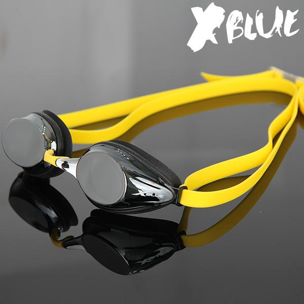 엑스블루 패킹 미러렌즈 수경 XB-20MR(BKYE)