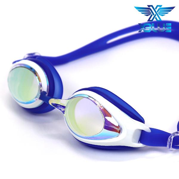 엑스블루 패킹 미러렌즈 수경 주니어 XB-7400MR(BLU)