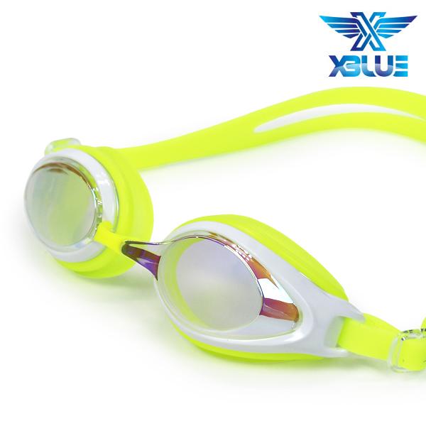 엑스블루 패킹 미러렌즈 수경 주니어 XB-7400MR(LIM)