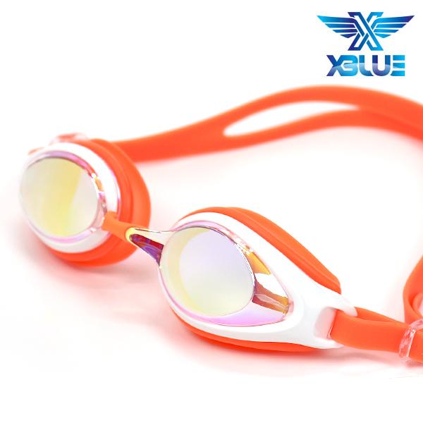 엑스블루 패킹 미러렌즈 수경 주니어 XB-7400MR(ORG)
