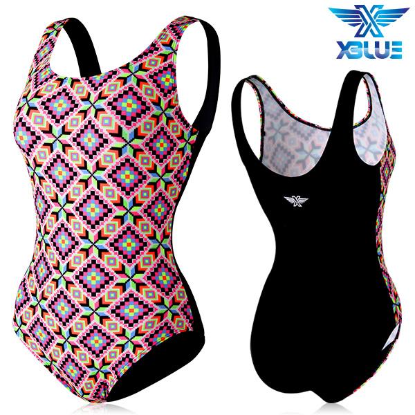 XBL-0020 원피스-2 엑스블루 여성 아쿠아복 수영복