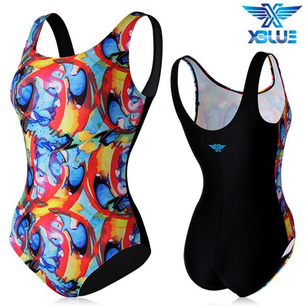 XBL-0020 원피스-5 엑스블루 여성 아쿠아복 수영복